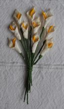 IVORY CALLA LILY aka ARUM LILY Mulberry Paper Flowers
